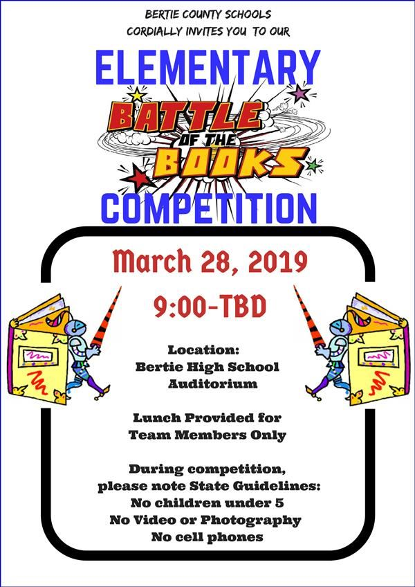 Flyer for Battle of the Books