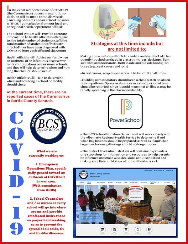 COVID-19 INFORMATIONAL FLYER RE. ACTIONS FOR PREVENTION AND PREPARATION