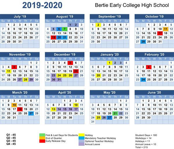 College Calendar 2020 2019 2020 School Calendars have been Board approved