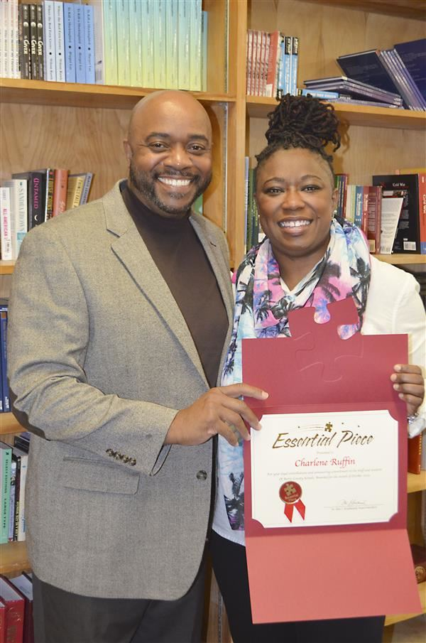 Dr. Smallwood and Charlene Ruffin