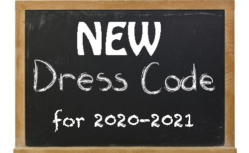 Chalkboard art - New Dress Code for 2020-2021