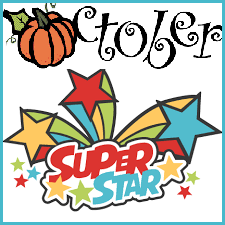 October Super Stars Clipart