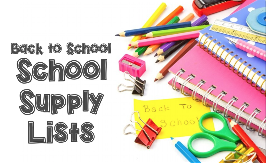 Back-to-school Supply Lists - Art with pencils and clips