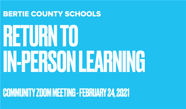 Community Zoom Meeting for In-Person Learning