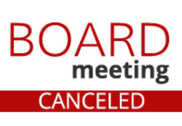 Board meeting canceled art
