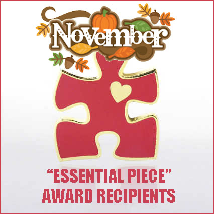 November essential piece (red puzzle piece) art