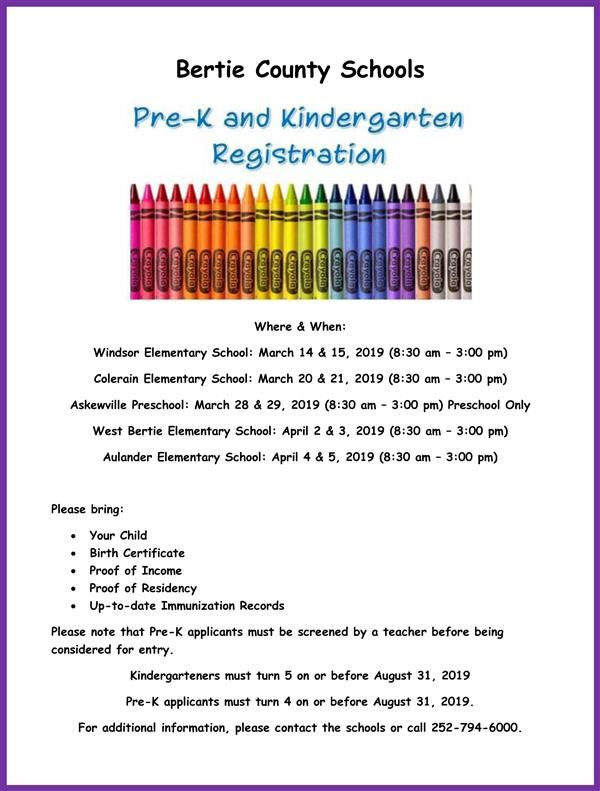 thumbnail of PreK and Kindergarten Registration Flyer